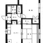 シイバハイツ201号室間取り(間取)